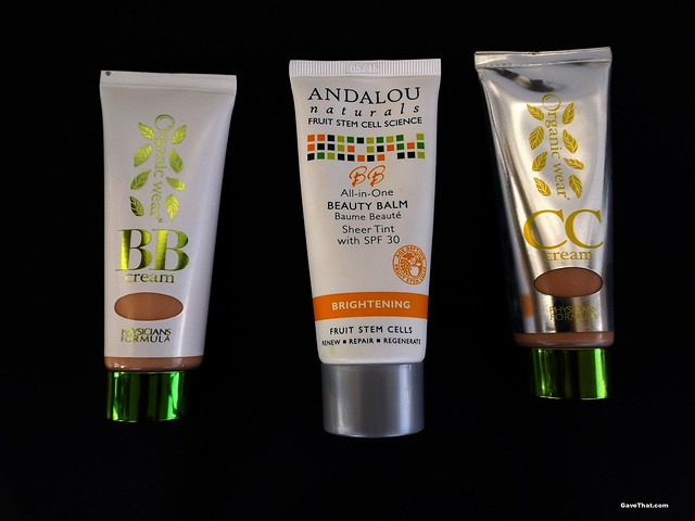BB and CC Creams by Andalou Naturals and Physicians Formula