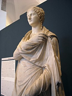 """Agrippina Minor"", Nero's mother - statue julio-claudian age, from Herculaneum - Naples Archaeological Museum - ""Augustus and Campania"" - Exhibition at Archaeological Museum of Naples, until May 4, 2015"