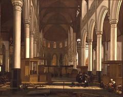 Interior of the Oude Kerk in Amsterdam. ca1660