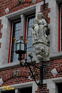 """Brugge / Bruges -- Wijngaardplein 15 """"Pastorie van de Begijnhof"""""""