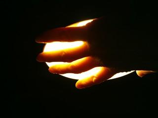 Holding the light