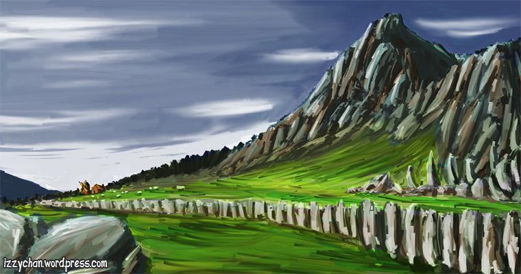 artrage rocky landscape pasture