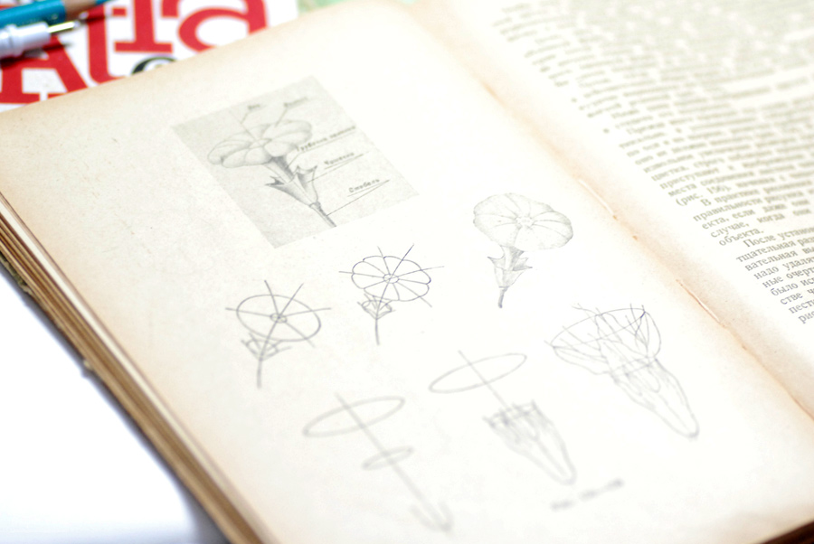 AN old russian book about drawing