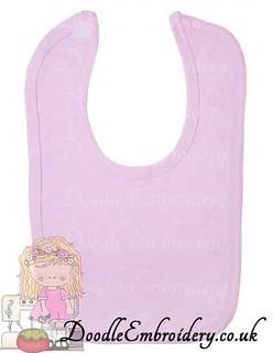 Velcro Bib - Pastel Range - Pink copy