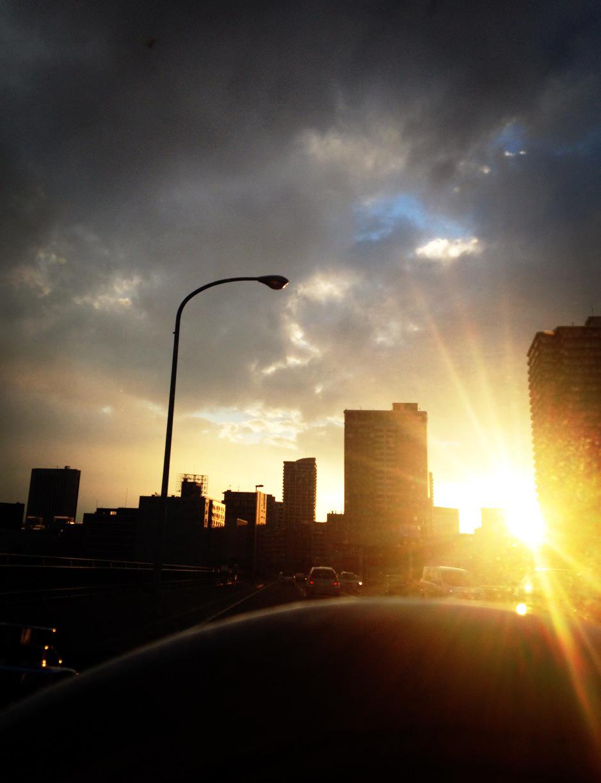 暮れ行く太陽