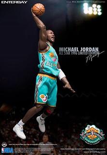 ENTERBAY【麥可.喬丹】1996 年 NBA 全明星賽 Michael Jordan 1/6 比例人偶作品