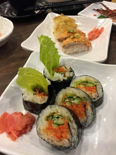 (吃到飽食記)同學會聚餐推薦,到高雄松江庭日本料理店找美食好料 (18)明太子泡菜壽司