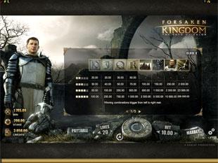 Forsaken Kingdom Slots Payout