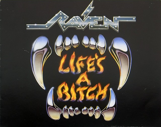 "Raven Life's A Bitch Nwobhm New Wave Of British Heavy Metal 12"" Vinyl LP"