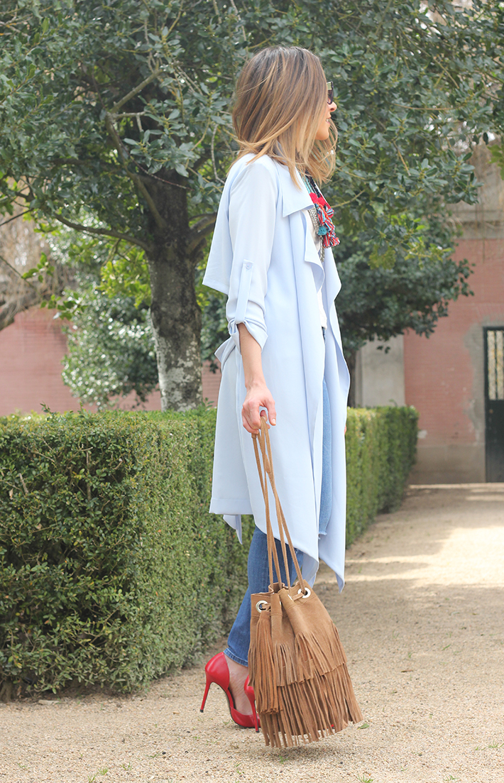 blue trench jeans zara fringe bag01