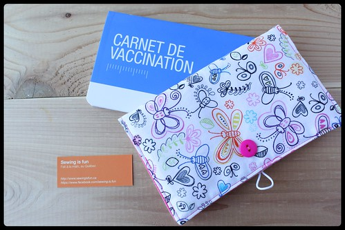 protège carnet de vaccination par Sewing is Fun