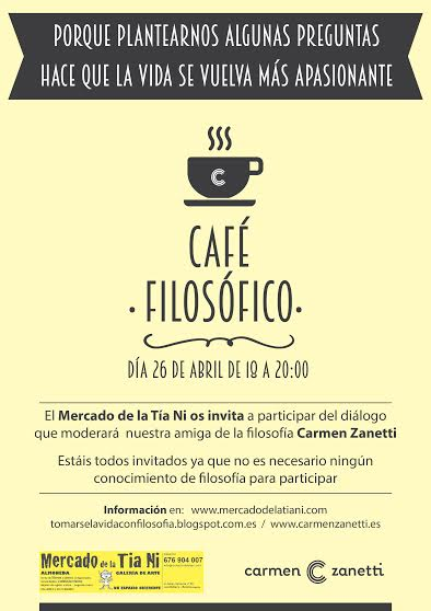 Cartel cafe filosofico