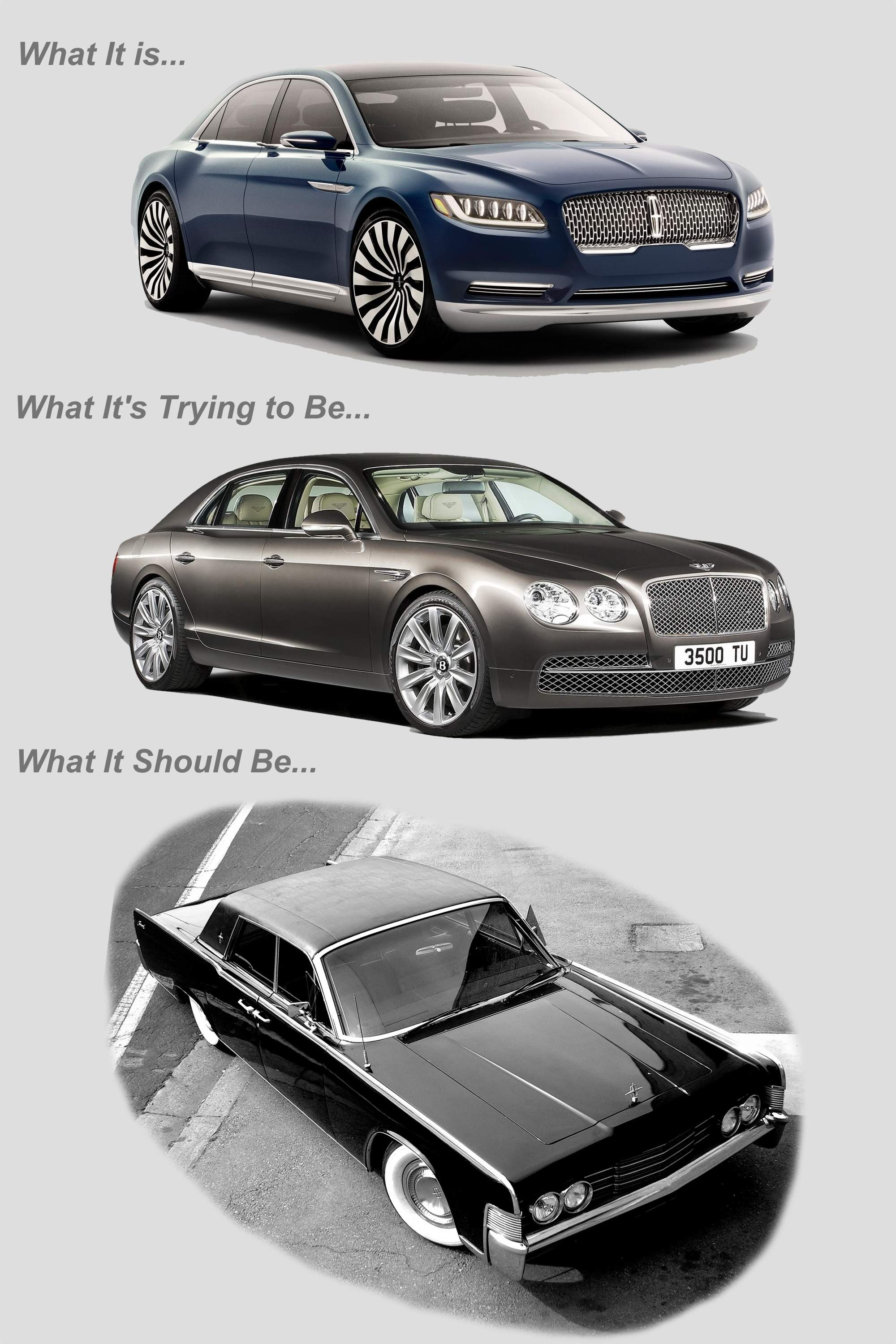 Lincoln Continentals vs Bentley Flying Spur
