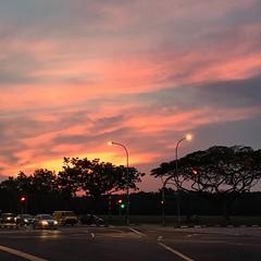 Monday bike ride sky. #Singapore