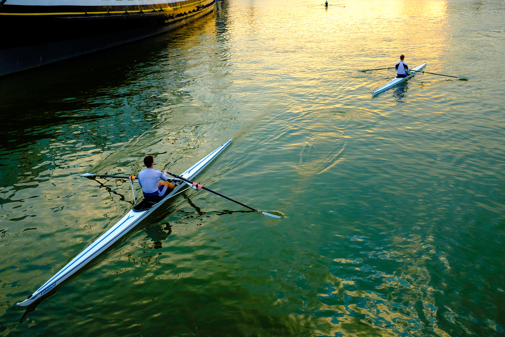 Bristol- sculls in the Floating Harbour