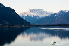 Dent du Midi in Early Morning - Montreux, Switzerland