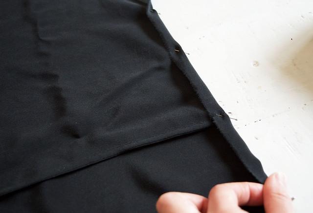 DIY Black Silk Tank