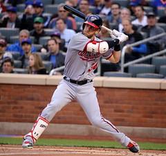 Bryce Harper prepares to swing