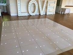 White LED Starlit Dance Floor Hire at the Grange Hotel, Grange Over Sands