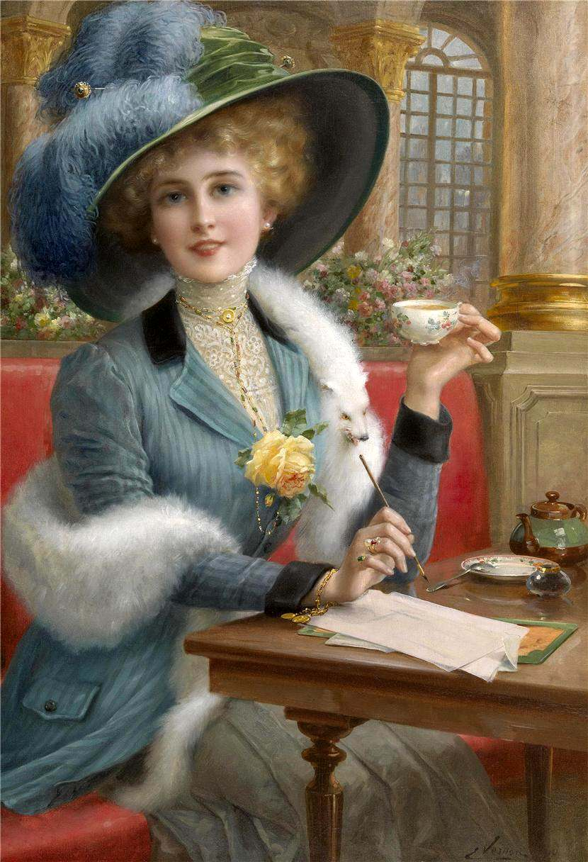 Elegant Lady by Emile Vernon, Date unknown