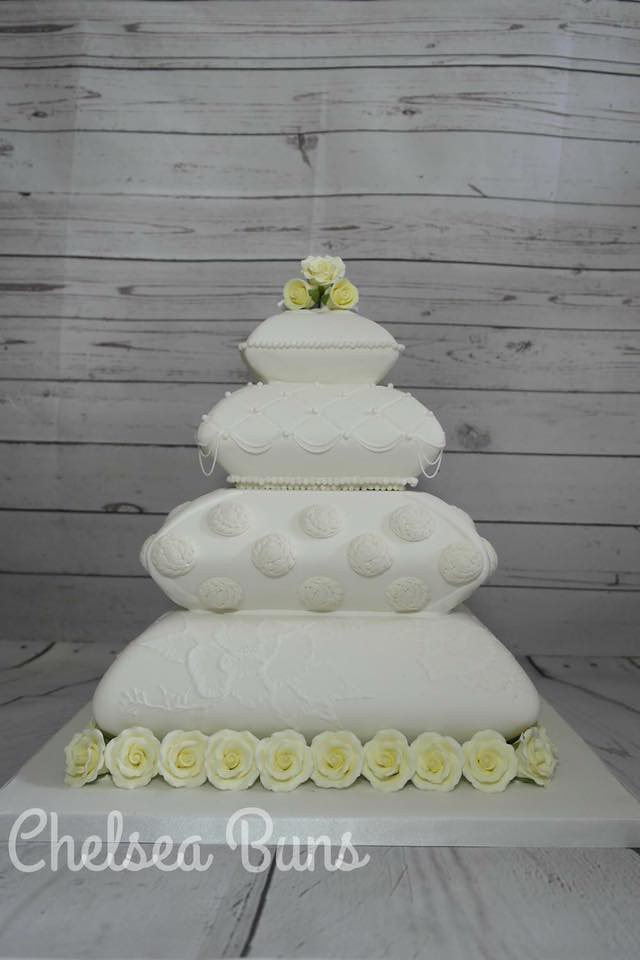 Pillow Wedding Cake by Chelsea Prior of Chelsea Buns Creative Cakes