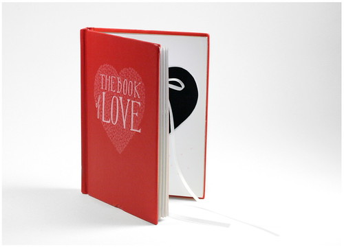 Heart Cut Out Hollow Book - Ring Holder for Engagement Proposal