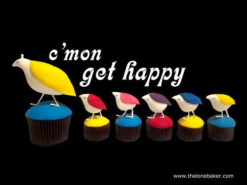 Come on get happy Partridge Family cupcakes