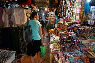 Caroline in the Siem Reap market