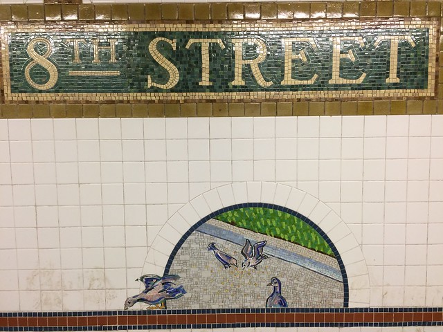 8th St. Station mosaic