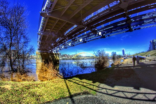 bridge blue sky urban water canon lens landscape geotagged eos rebel prime focus downtown skies angle wide streetphotography fisheye fixed manual dslr geotag hdr app facebook 500d 2015 handyphoto rokinon teamcanon t1i iphoneedit snapseed jamiesmed