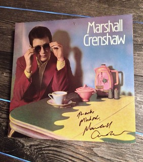 Sweet! Finally got this signed tonight! My original first pressingfrom 1982 purchased at Apple Records on San Pedro here in San Antonio. Marshall Crenshaw's awesome debut album!