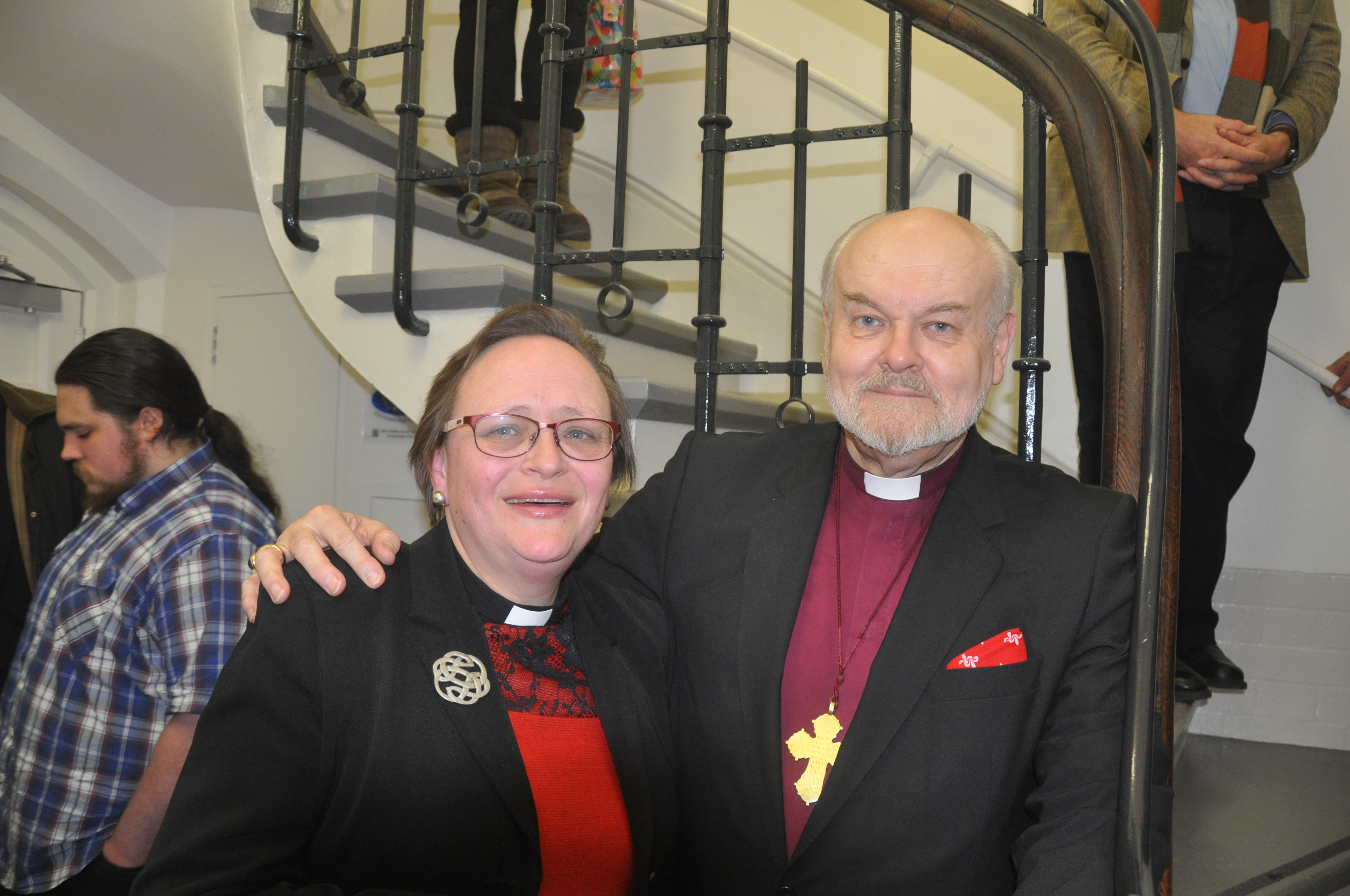Lis Goddard, Vicar of St James the Less, Pimlico, with Rt Revd  Richard Chartres, Bishop of London