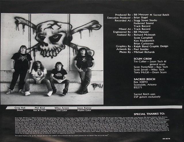 "SACRED REICH IGNORANCE 12"" Vinyl LP"