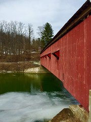 Side View of the Buskirk Covered Bridge