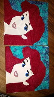Ariel. Paper pieced blocks. Fandom in Stitches