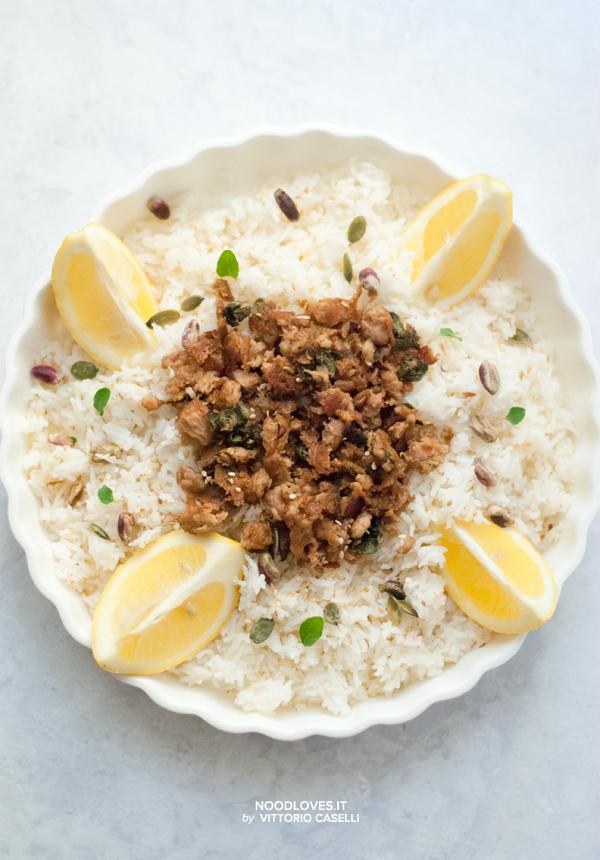 Insalata di riso basmati con tonno