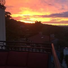 Sunset terrace.