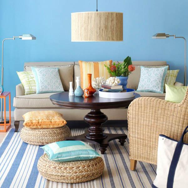 20 gam màu xanh tươi mát phù hợp thiết kế nội thất phòng khách-Phần 3