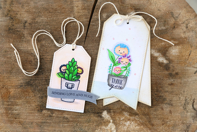 potted pretties {mama elephant stamp highlight}