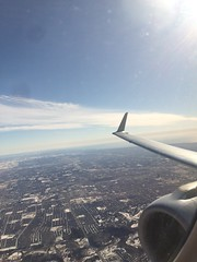 Flying over the Icy Great Lakes