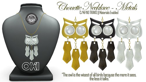 ::OXI:: Chouette Necklace - Metal
