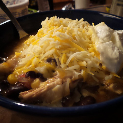 @genmae5 made chicken tortilla soup for dinner! YUM!