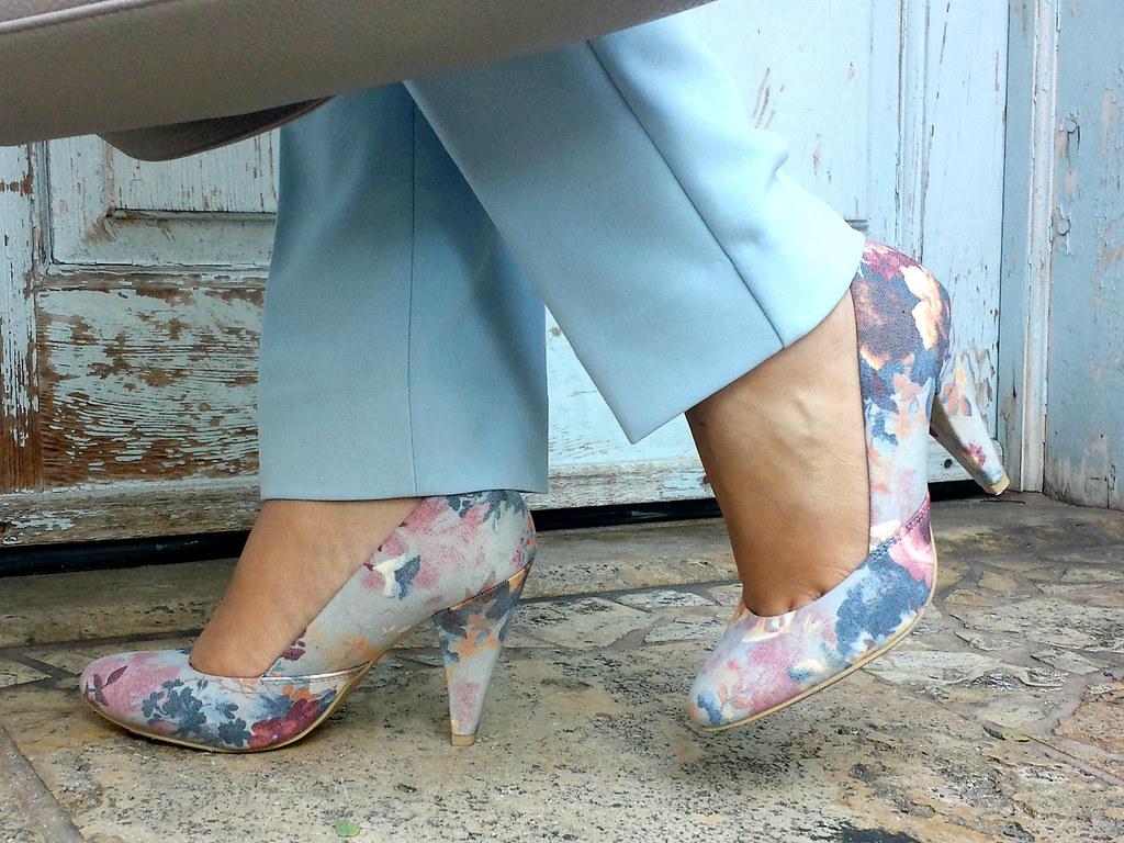 Forever 21 floral heels