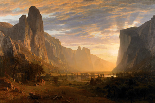Albert Bierstadt - Birmingham Museum of Art 1991.879. Looking Down Yosemite Valley, California (1865)