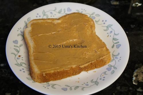 Peanut butter banana sandwich 1