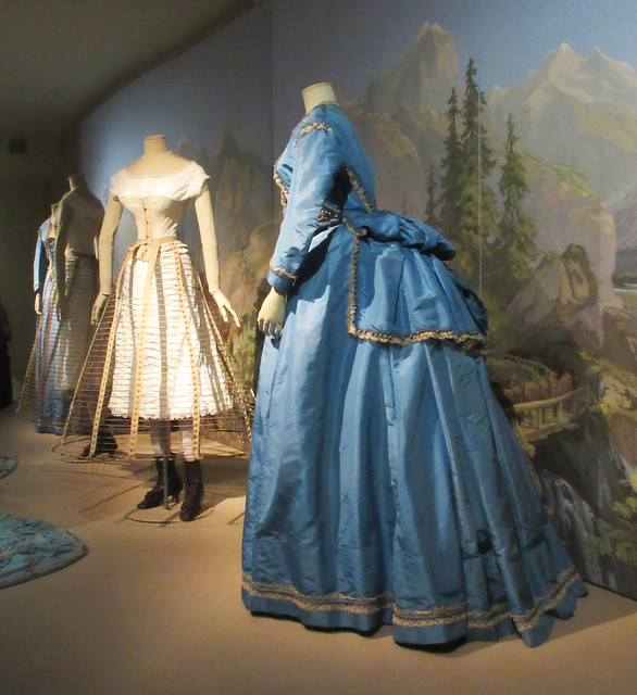 Underneath and outside views of early 19th Century dress