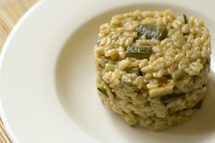 Risotto courgette and mint