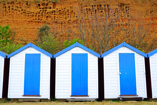 Beach shacks, Sandown, Isle of Wight