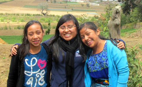 Sandra with students in the Scholarship and Youth Development Program