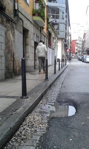 Agujero en la calle